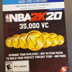 NBA 2K20 – 35,000 VC (PlayStation) – 1,400 Points